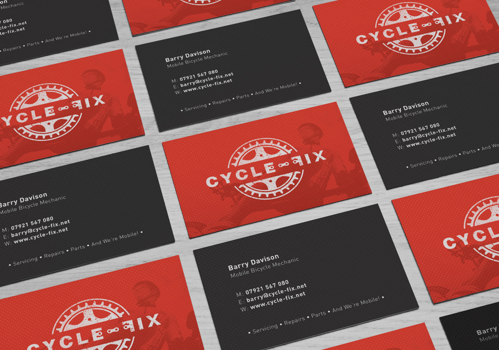 Cycle-Fix, Business Cards, branding, logo