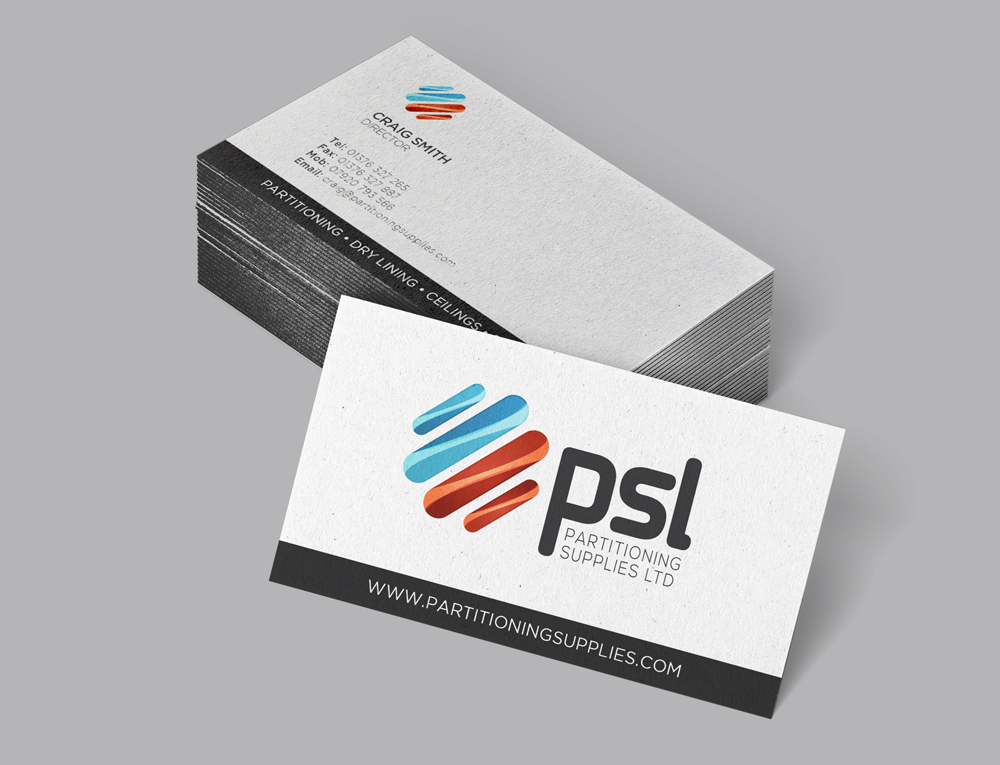 PSL - Partitioning Supplies Limited - Business Cards