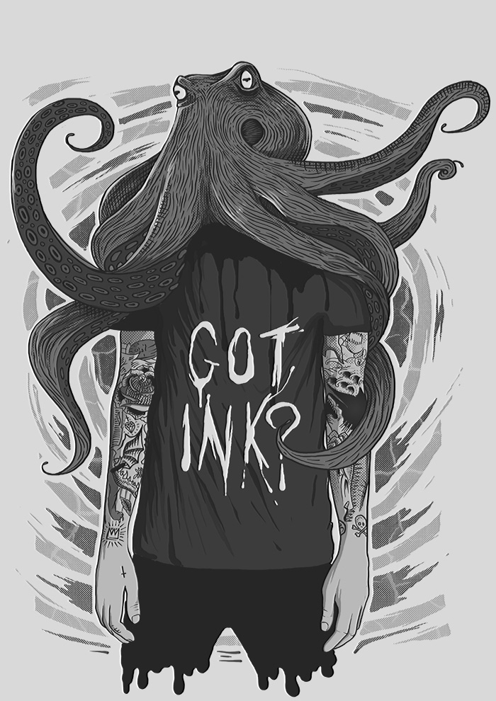 Serpent & Co Got ink Illustration by Daniel Sawyer Merch Design – Print Design